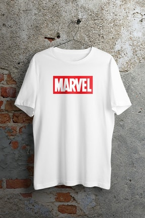WePOD Marvel Logo Beyaz Unisex Tshirt