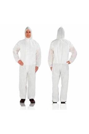 İnova Lamineli Beyaz Tek Kullanımlık Tulum 55 gr