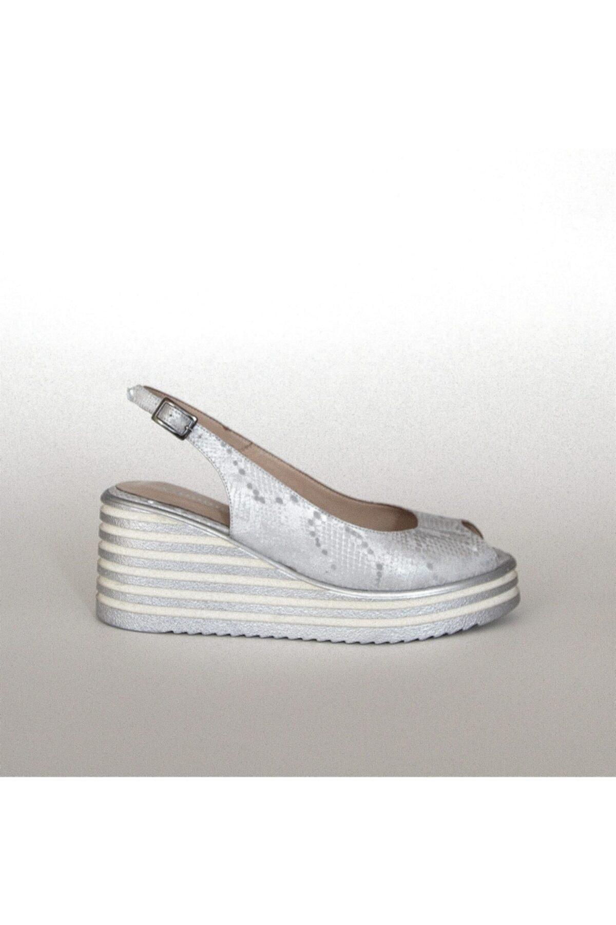 Pointmod Kadın Dolgu Topuk Sandalet 1