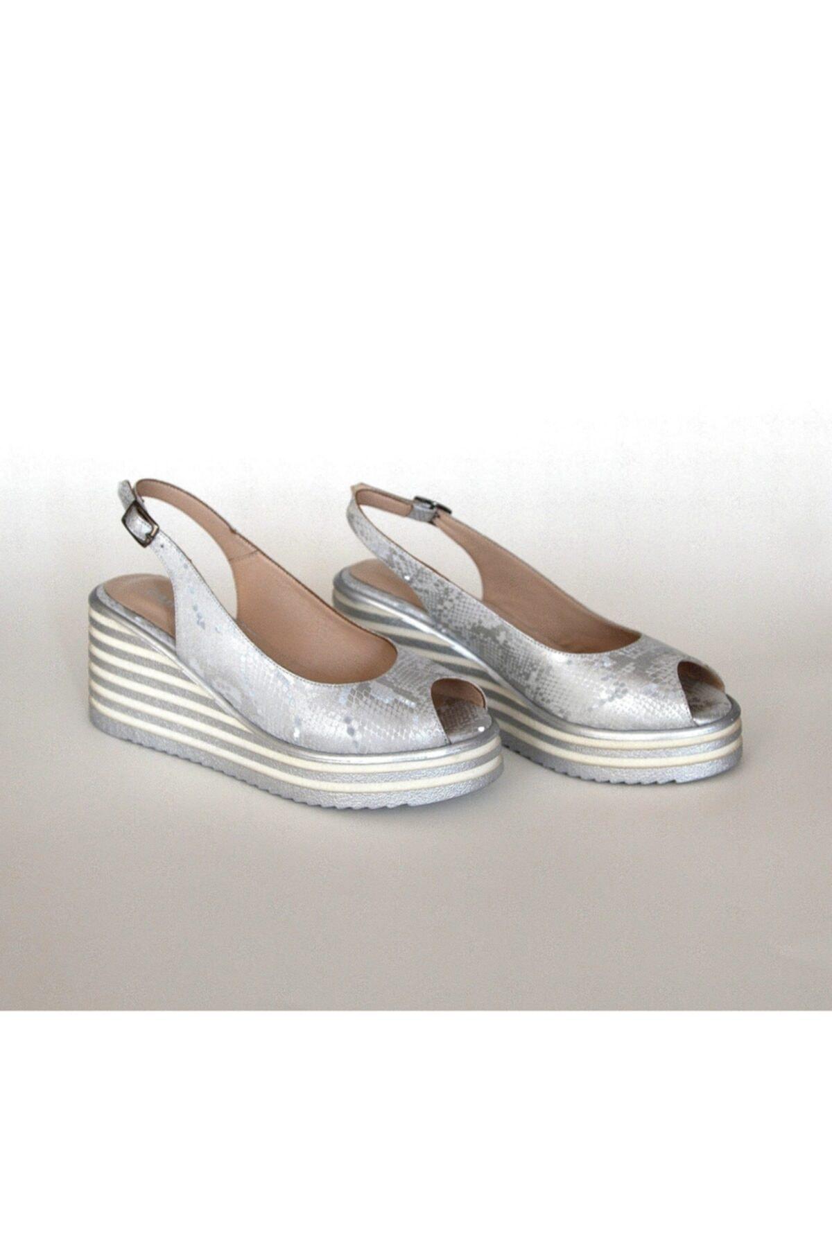 Pointmod Kadın Dolgu Topuk Sandalet 2