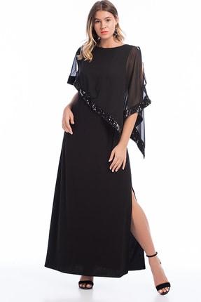 Şans Kadın Siyah Payet İşli Elbise 65N17608