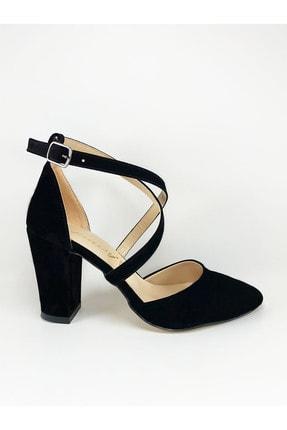Daisy Kadın Siyah Çapraz Bantlı Topuklu Ayakkabı