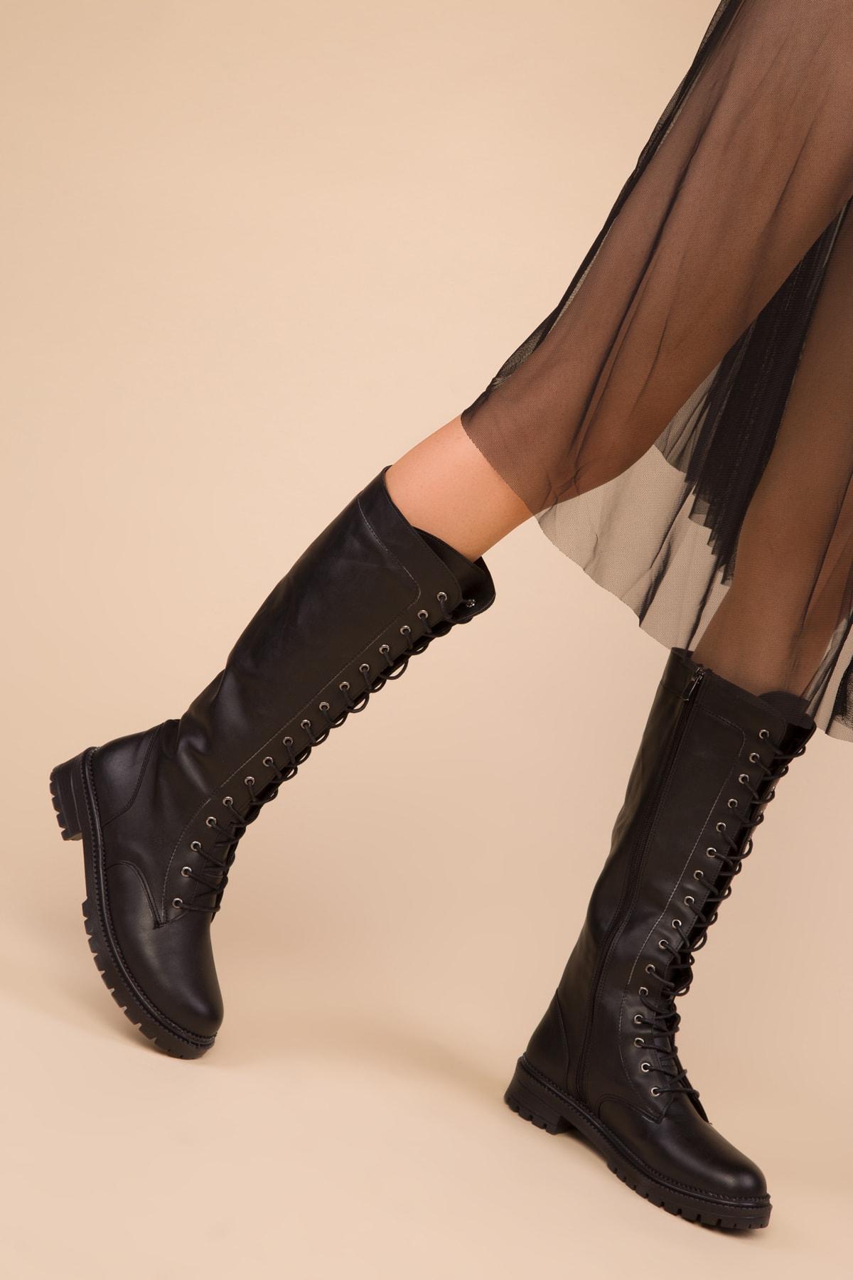 SOHO Siyah Kadın Çizme 15255 1
