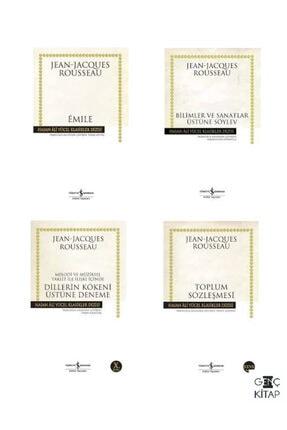 İş Bankası Kültür Yayınları Jean Jacques Rousseau 4 Kitap Set Iş Bankası Hasan Ali Yücel Klasikleri Toplum Sözleşmesi-emıle