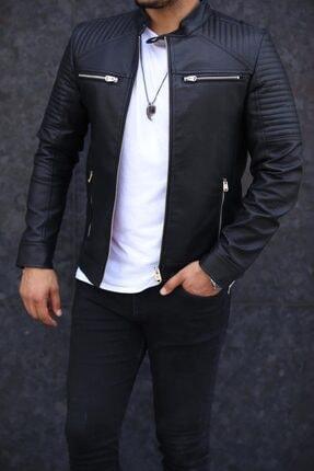 Zago Erkek Siyah Deri Ceket