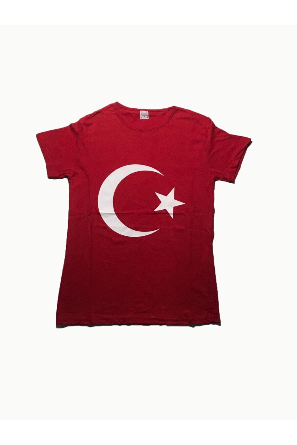 DOĞRU Erkek Kırmızı Türk Bayraklı Tshirt 1