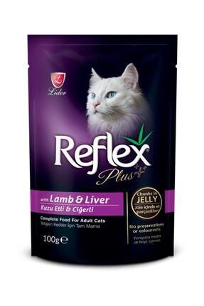 Reflex Plus Kuzulu Ve Ciğerli Pouch Kedi Konserve Jöle İçinde Et Parçacıklı 100 Gr