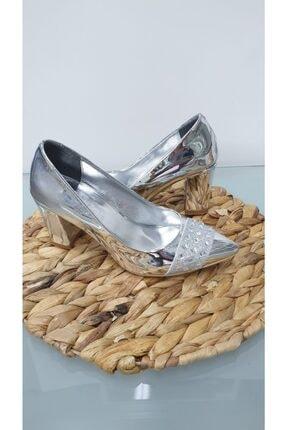 Almera Kadın Gümüş Topuklu Ayakkabı