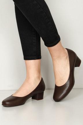 G.Ö.N Gön Hakiki Deri Kadın Topuklu Ayakkabı 77202