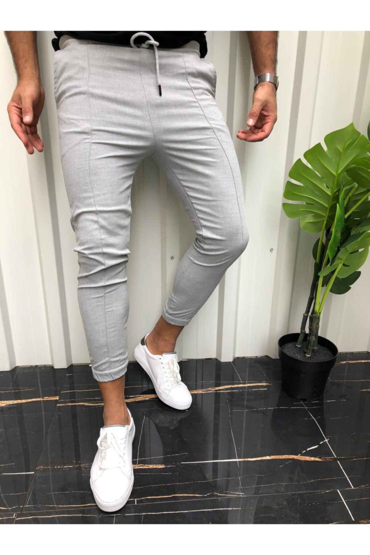 Axu Erkek Gri Kargo Pantolon 1
