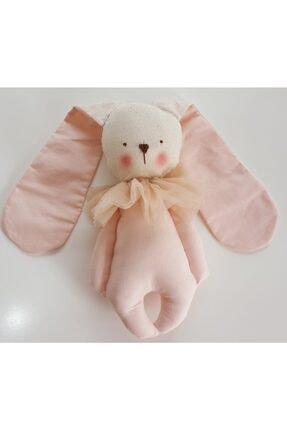BERLİNA Uyku Arkadaşı Pudra Renkli Organik Tavşan-boyu:24cm