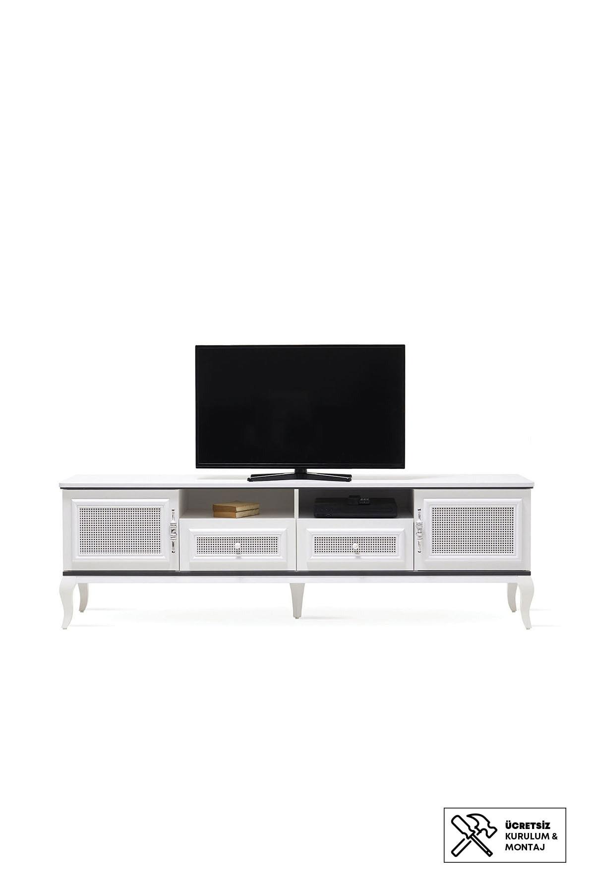 Enza Home Rattan Tv Sehpası (63X204X50 Cm)
