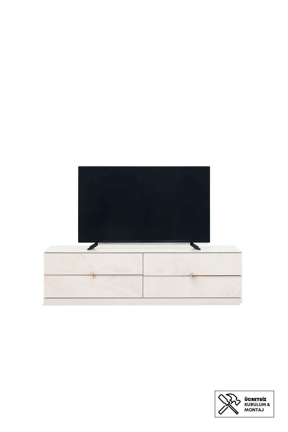 Enza Home Piedra Tv Sehpası- Bazalı (42X161X46 Cm)