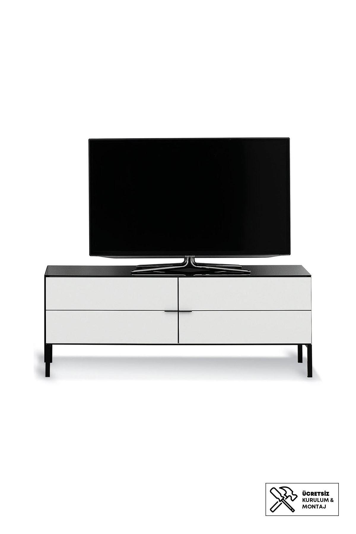 Enza Home Crystal 2 Kapaklı Alçak Tv Sehpası (45X120X45 Cm)