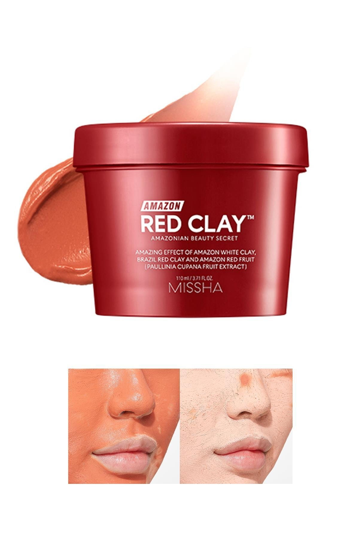 Missha Gözenekli Ciltler İçin Amazon Kili Maskesi 110ML Amazon Red Clay Pore Mask