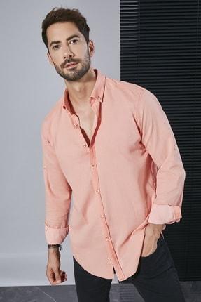 Sateen Men Erkek Gül Kurusu Uzun Kol Pamuk Gömlek