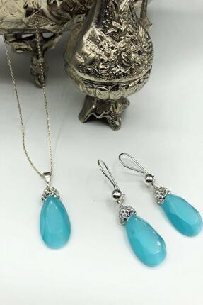 Dr. Stone Harem Koleksiyonu Kedigözü Taşı El Yapımı 925 Ayar Gümüş Set Gdr16