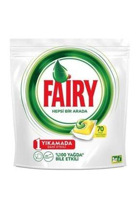 Fairy Hepsi Bir Arada Bulaşık Makinesi Deterjanı Kapsülü Limon Kokulu 70 Yıkama