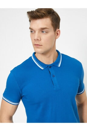 Koton Erkek Lacivert Polo Yaka T-Shirt