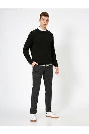 Koton Erkek Gri Cep Detaylı Pantolon