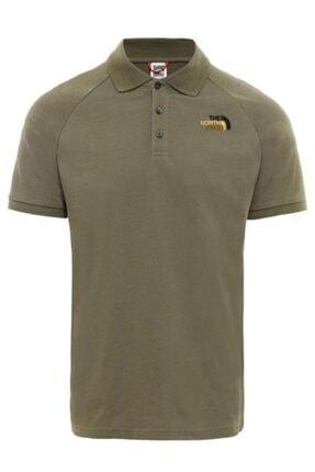 THE NORTH FACE Raglan Jersey Polo Erkek T-shirt Yeşil