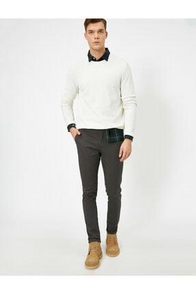 Koton Erkek Gri Cep Detayli Skinny Fit Pantolon