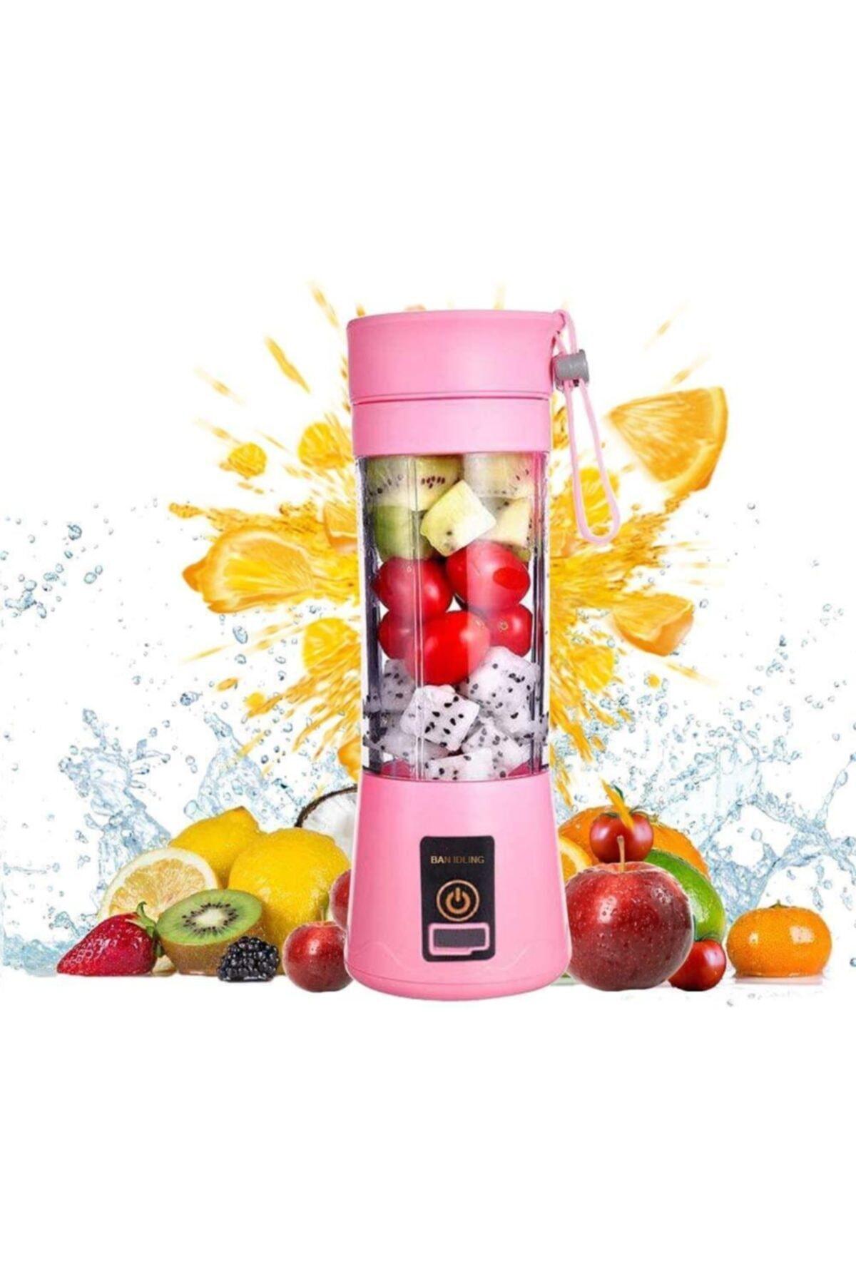 Nettenevime Taşınabilir Blender Kişisel Mikser Usb Elektirikli Meyve Sıkacağı Mini Mikser Mutfak Robotu Mor 1