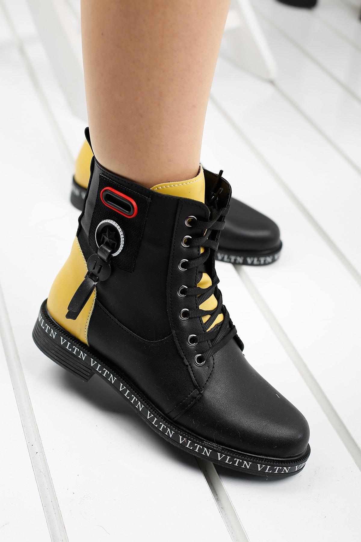 Ayakland Kadın Siyah Günlük Termo Taban Bot Ayakkabı Despina 41-1 1