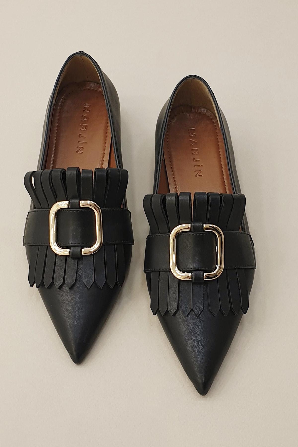 Marjin Siyah Kadın Novle Klasik Topuklu Ayakkabı 20Y0016RB2427 2