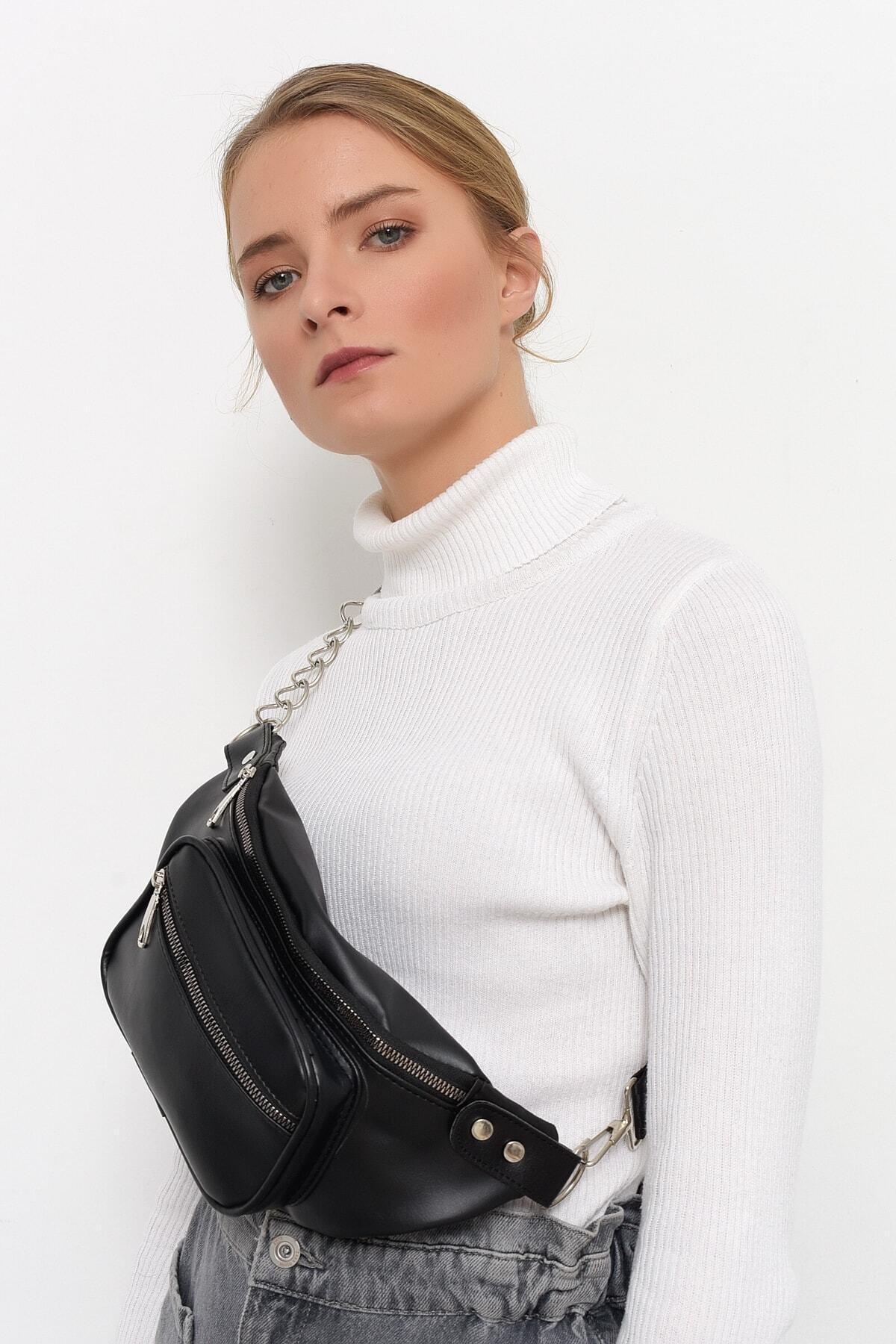Bagzone Kadın Siyah Bel Çantası 10hd3002 1