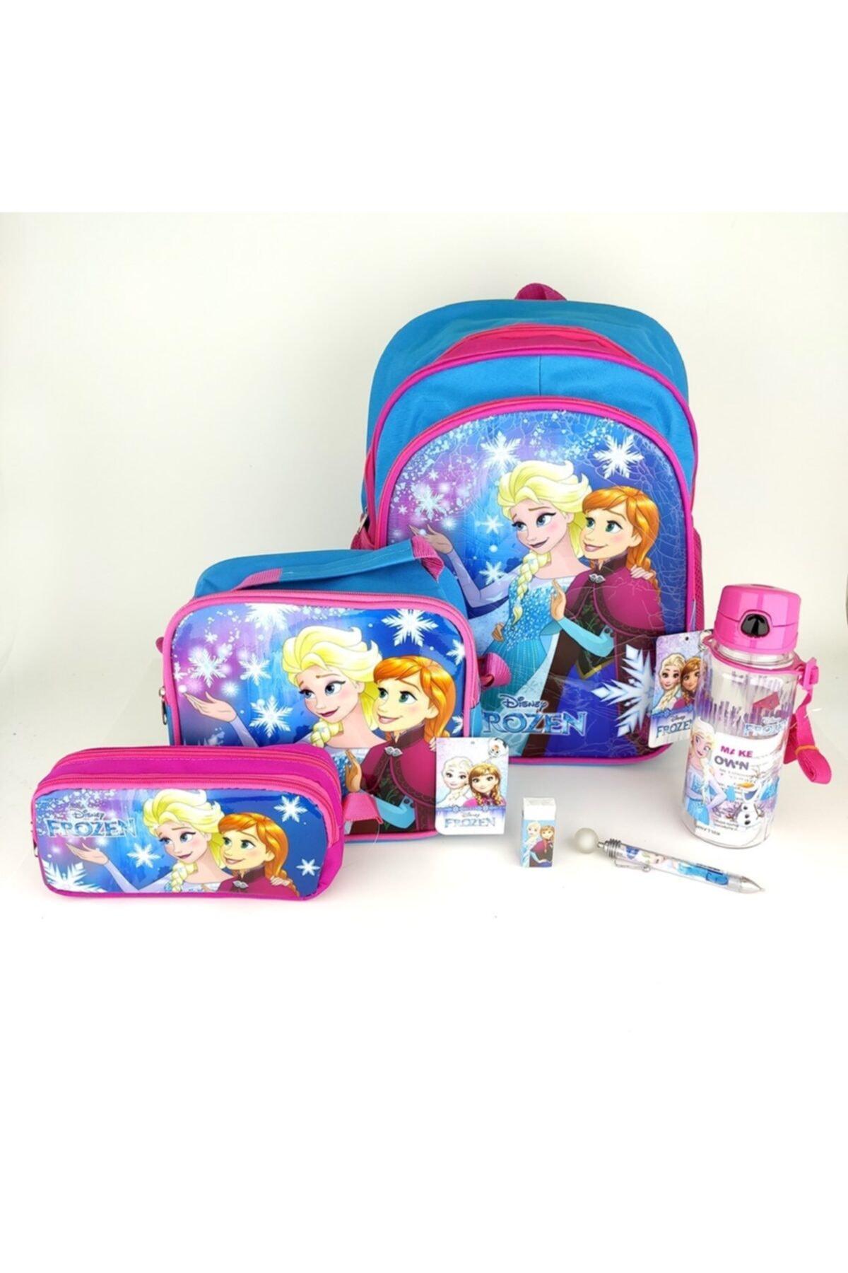 Frozen 7 Parça Set(çanta+beslenme+bes.kabı+suluk+silgi+kalem+kalem Kutu) 1
