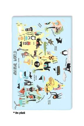 we are Pia Dünya Haritası Map Oyun Halısı Oyun Matı