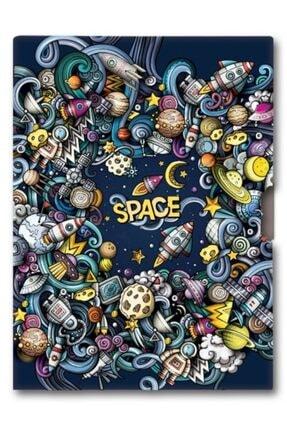 KESKİN COLOR 96 Yaprak Erkek Çocuk Hatıra Defteri - Uzay - 14x20 Cm