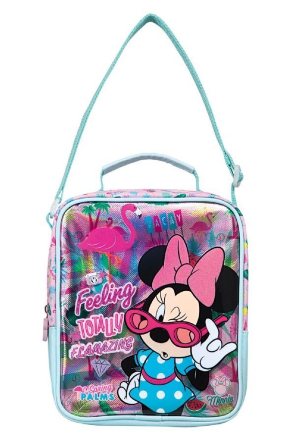 Frocx Minnie Mouse Pembe Lüks Ilkokul Beslenme Çantası - Kız Çocuk 1
