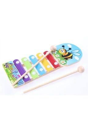istocyapimarket Ahşap Sevimli Hayvan Figürleri Selefon Eğitici Oyuncak Ksilofon