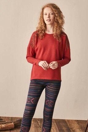 Lohusa Sepeti Kadın  Nar Çiçeği Pijama Takımı