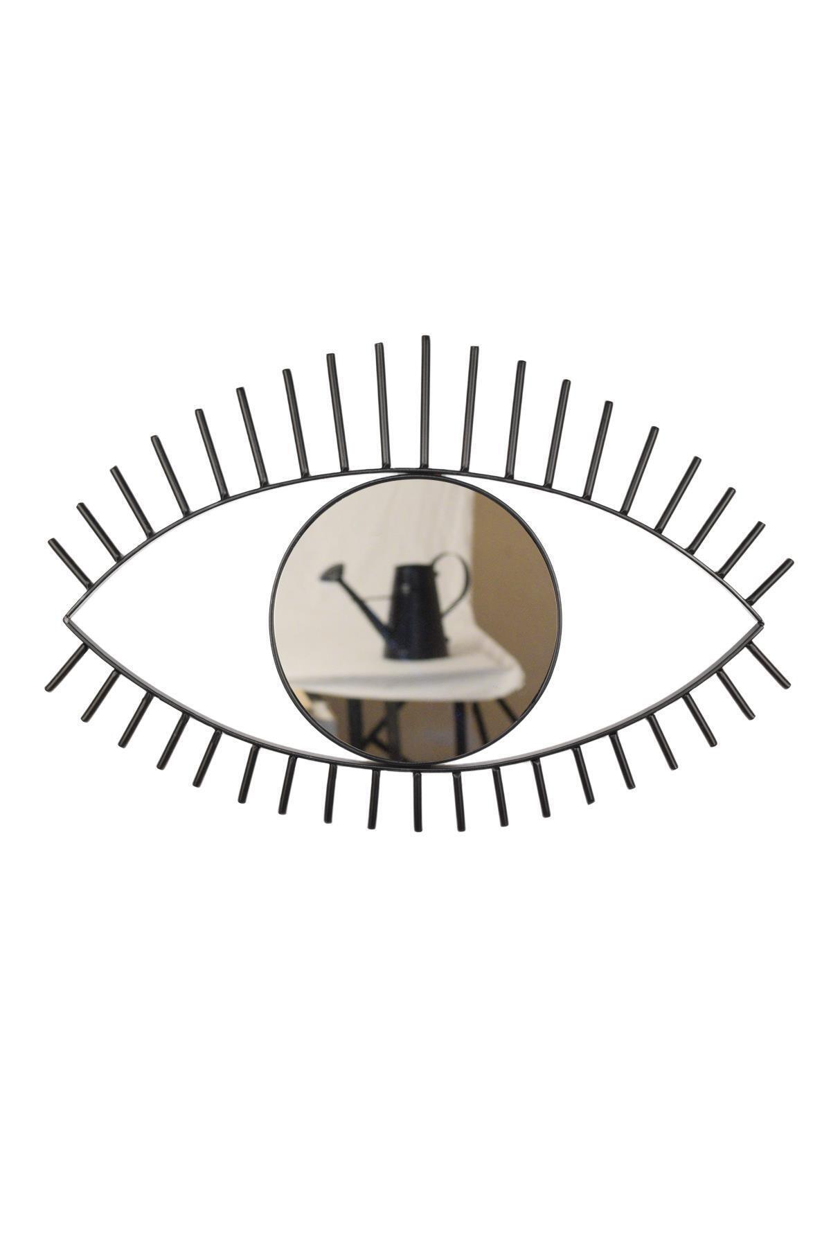Desen Dekorasyon Göz Ayna Metal Çerçeveli Küçük 1