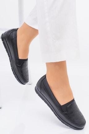 invention Kadın Siyah Ortopedik Ayakkabı
