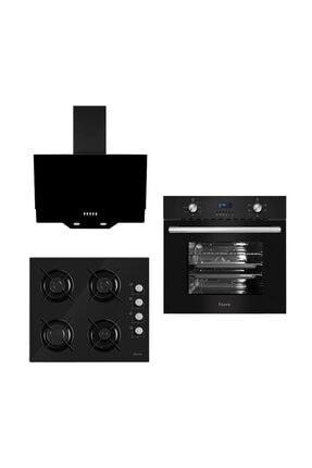 Ferre New İtaliano Black 3'lü Ankastre Set (6006-S2140-D003)