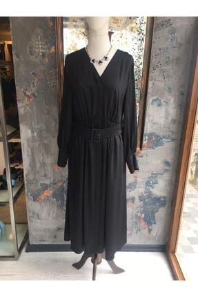 Ekol Kadın Siyah Midi Boy Elbise