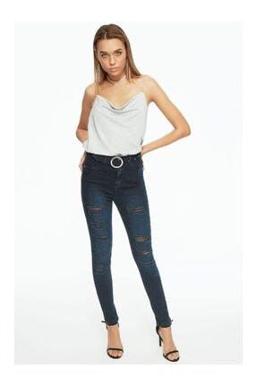 Moda Avcilari by Gülcan Kadın Lacivert Büyük Beden Jeans