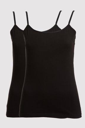 Pierre Cardin Kadın Siyah 1204 2li Paket Askılı Atlet