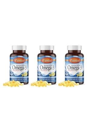 Carlson Omega-3 50 Kapsul Balık Yağı Fish Oil 3 Adet