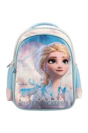 Frozen Belıeve In Journey Pembe Mavi Okul Çantası  -5141