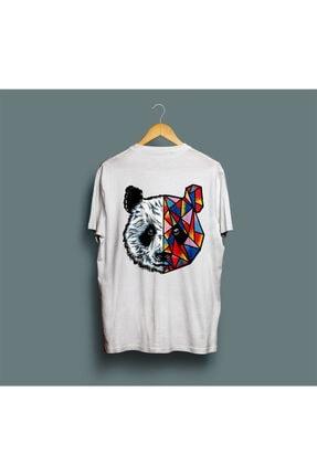 Pasage Unisex Beyaz Baskılı  Panda Tshirt