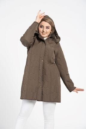 Tuva Tekstil Kadın Haki Kapitone Mont