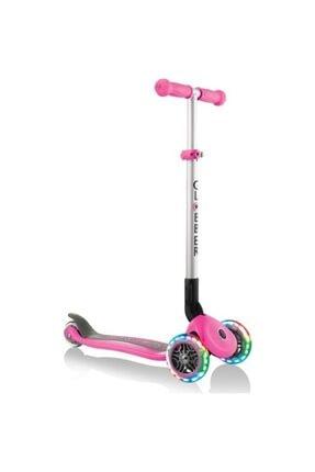 Globber Primo Katlanabilir Işıklı Pembe Çocuk Scooter