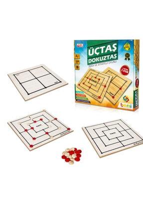 BEMİ Üçtaş & Dokuztaş  Beceri Eğitici Zeka Strateji Çocuk Ve Aile Oyunu