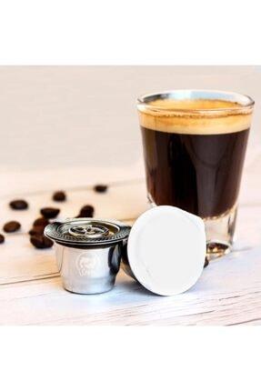 Nespresso Icafilas Paslanmaz Çelik Tekrar Doldurulabilir Kahve Kapsülü+100gr Espresso Kahve