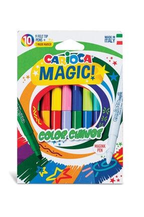 CARIOCA Renk Değiştiren Sihirli Keçeli Kalemler (9 Renk + 1 Renk Değiştirici Beyaz Kalem)